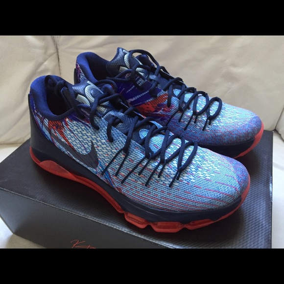 new style aa941 381ab Nike KD 8 Blue Red White Size 9.5 New 4th of July